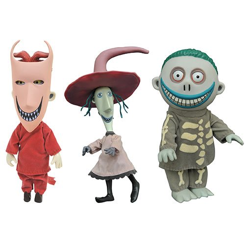Nightmare Before Christmas Lock, Shock, and Barrel 3-Pack Deluxe Doll Set