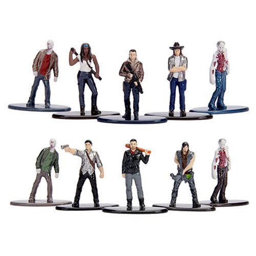 Walking Dead Nano Metalfigs Die-Cast Mini-Fig. 5-Pack Set – Free Shipping