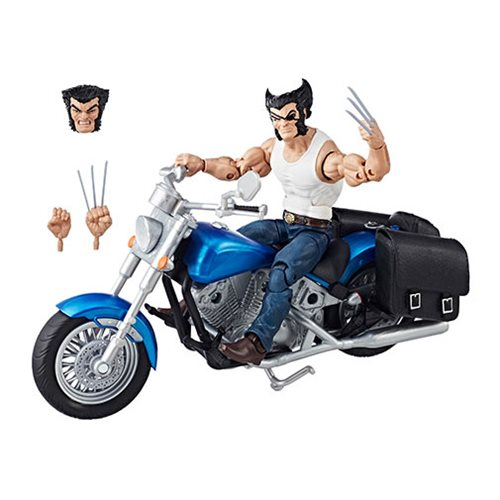 Marvel Legends Series 6-inch Wolverine with Motorcycle
