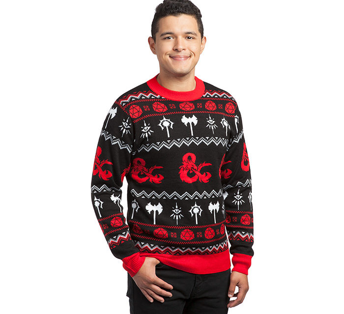 Dungeons and Dragons Holiday Sweater