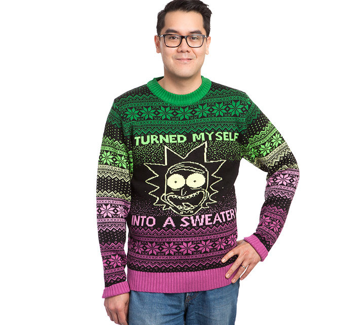 Rick and Morty I Turned Myself Into a Holiday Sweater