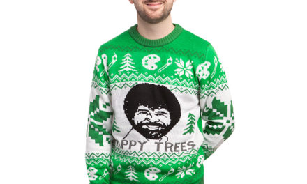 Bob Ross Happy Trees Holiday Sweater