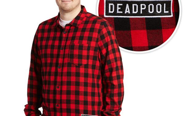 Deadpool Glitch Flannel