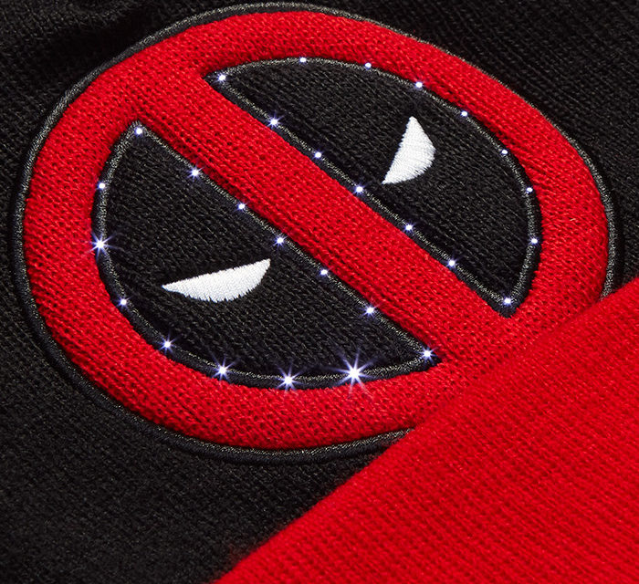 Deadpool LED Light-Up Beanie