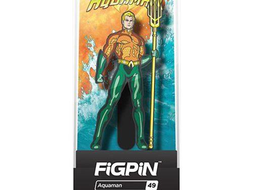 DC Comics Justice League Aquaman FiGPiN Enamel Pin