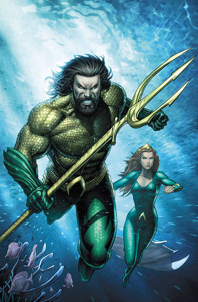 Aquaman Justice League Drowned Earth #1 (Movie Variant)