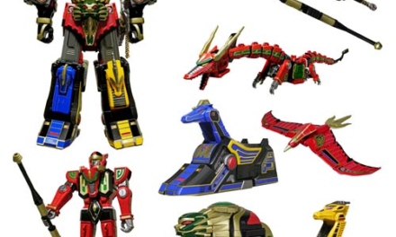 Mighty Morphin Power Rangers Legacy Thunder Megazord Die-Cast Action Figure – Free Shipping