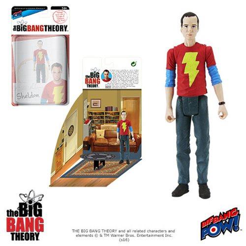 The Big Bang Theory Sheldon in Shazam T-Shirt 3 3/4-Inch Action Figure Series 2