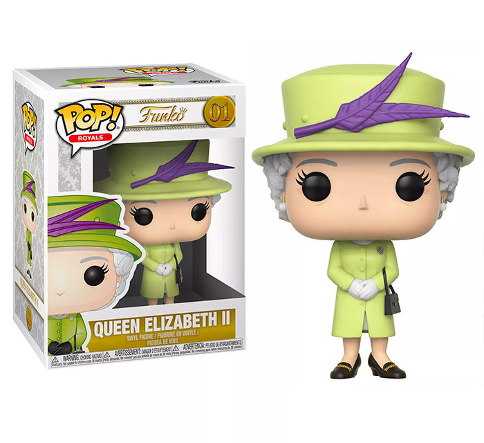 Funko POP! Queen Elizabeth II (Green) Vinyl Figure