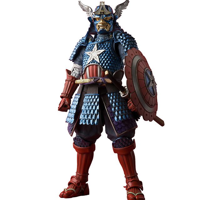 Tamashii Nations Meisho Manga Realization Samurai Captain America – Marvel Action Figure