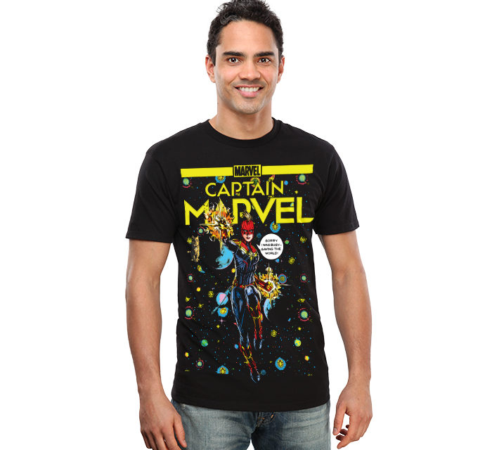 Captain Marvel Comic T-Shirt
