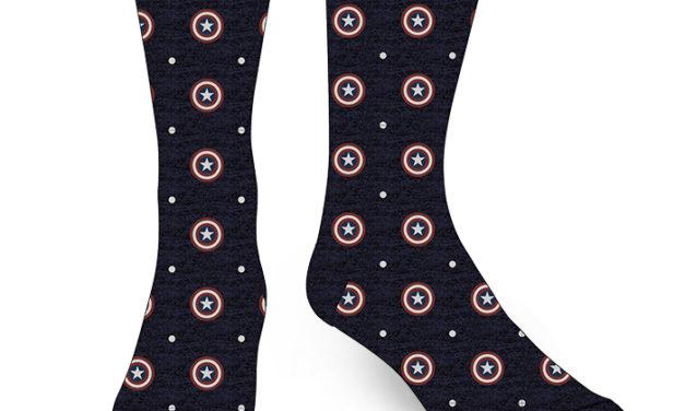 Captain America Dot Crew Socks