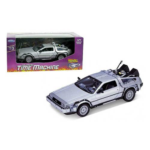 Back to the Future DeLorean 1981 Time Machine Die-Cast Metal 1:24 Scale Vehicle