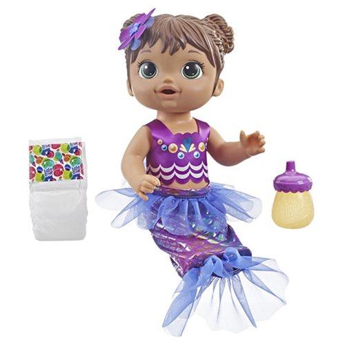 Baby Alive Shimmer 'n Splash Mermaid Doll – Brown Hair