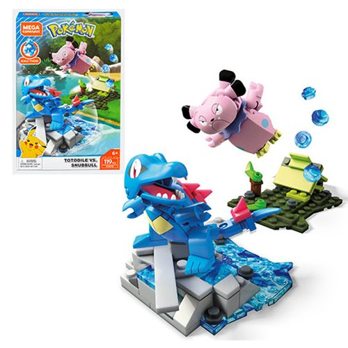 Pokemon Mega Construx Totodile vs. Snubbull Battle Set