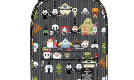 Nightmare Before Christmas Chibi Character Print Nylon Backpack