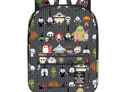 Nightmare Before Christmas Chibi Character Print Nylon Backpack