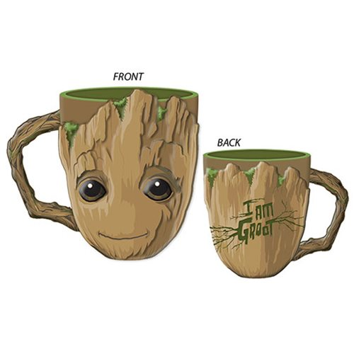 Marvel Guardians of the Galaxy Baby Groot Face Ceramic 3D Sculpted Mug