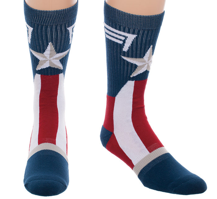 Captain America Suit Up Crew Socks