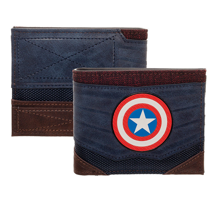 Captain America Chrome Patch Wallet