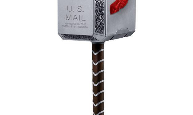 Marvel Thor Mighty Mjolnir Mailbox