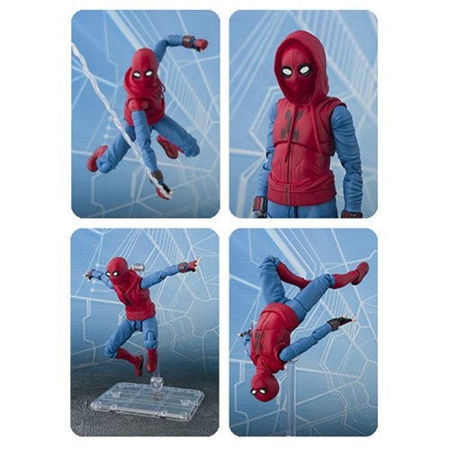 Spider-Man: Homecoming Spider-Man Homemade Suit SH Figuarts Action Figure – Free Shipping