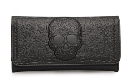 Black Lattice Skull Wallet