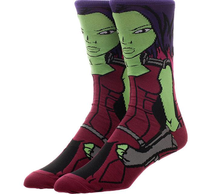 Guardians of the Galaxy Gamora Crew Socks