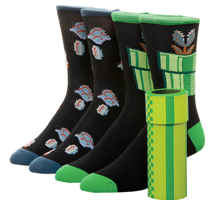 Super Mario Warp Pipe Crew Socks
