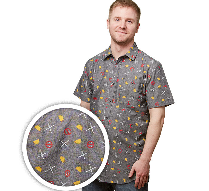 Deadpool Party Woven Shirt