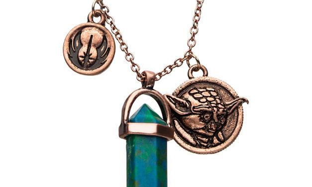 Star Wars Yoda Crystal Pendant Necklace