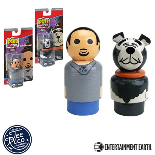 Lin-Manuel and Tobi Pin Mates Wooden Collectibles Set of 2