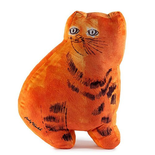 Andy Warhol Orange Cat Pillows Plush