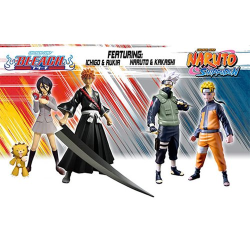 Naruto Shippuden and Bleach 6-Inch Figure Series 1 Set – Free Shipping