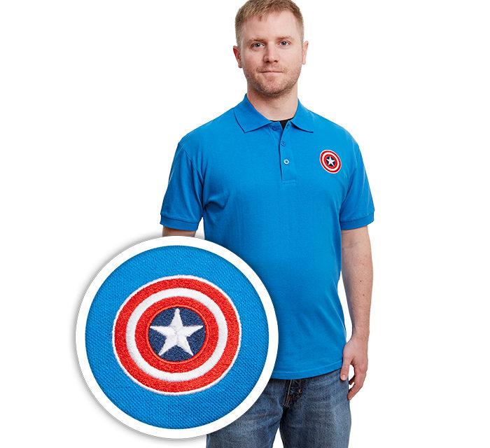 Marvel Captain America Shield Polo