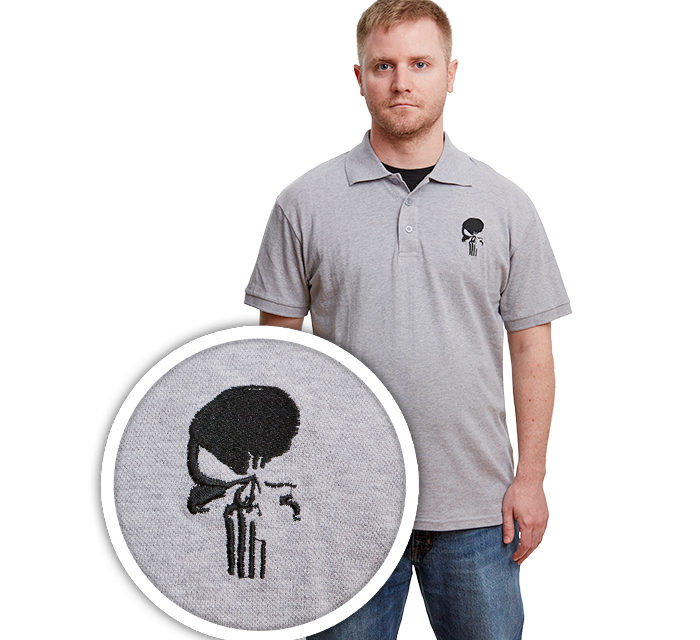Marvel Punisher Patch Polo