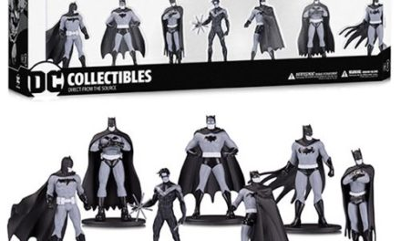 Batman Black and White Mini-Figure 7-Pack Box Set One