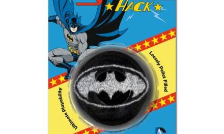Batman Metallic Batman Logo Embroidered Crocheted Footbag