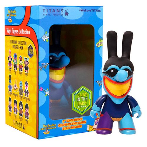 The Beatles Blue Meanie Glow-in-the-Dark 3-Inch Titan Vinyl Figure – 2019 Convention Exclusive – Free Shipping