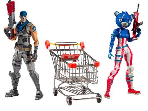 Fortnite Shopping Cart Pack #1 Action Figure Bundle 2-Pack – Free Shipping