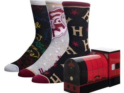 Harry Potter Hogwarts Express Crew Sock 3-Pack Box Set