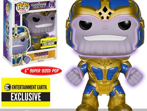 Guardians of the Galaxy Thanos Glow-in-the-Dark 6-Inch Pop! Vinyl Bobble Head Figure