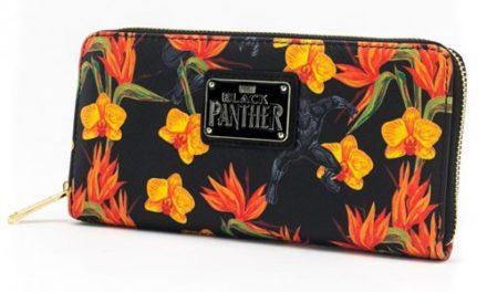 Black Panther Floral Zip-Around Wallet