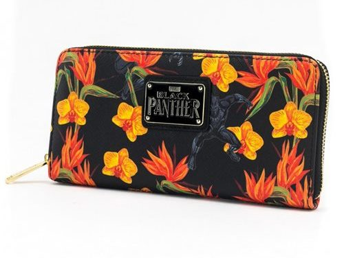 Black Panther Floral Zip-Around Wallet