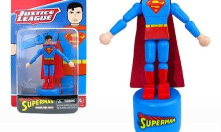 Superman Wooden Push Puppet